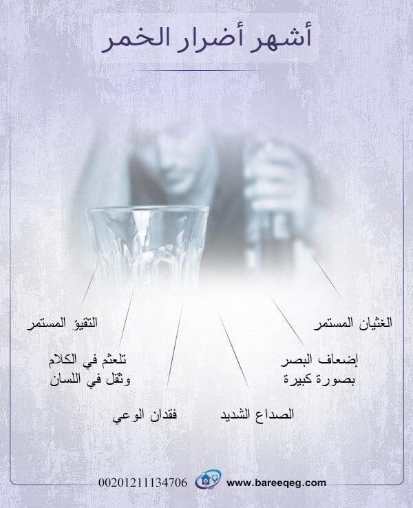 أشهر أضرار الخمر